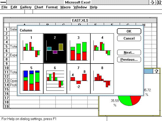 OS/2 1.x Excel