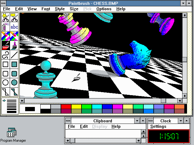 Windows 3.0 Paint